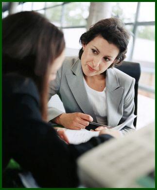 Saleswoman seeking to understand customer