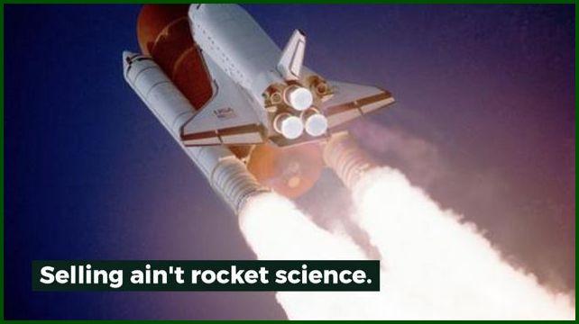 Rocket ship blasting off.