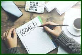 Record and track your goals to achieve them.