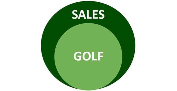 Circle showing Sales Golf Connection