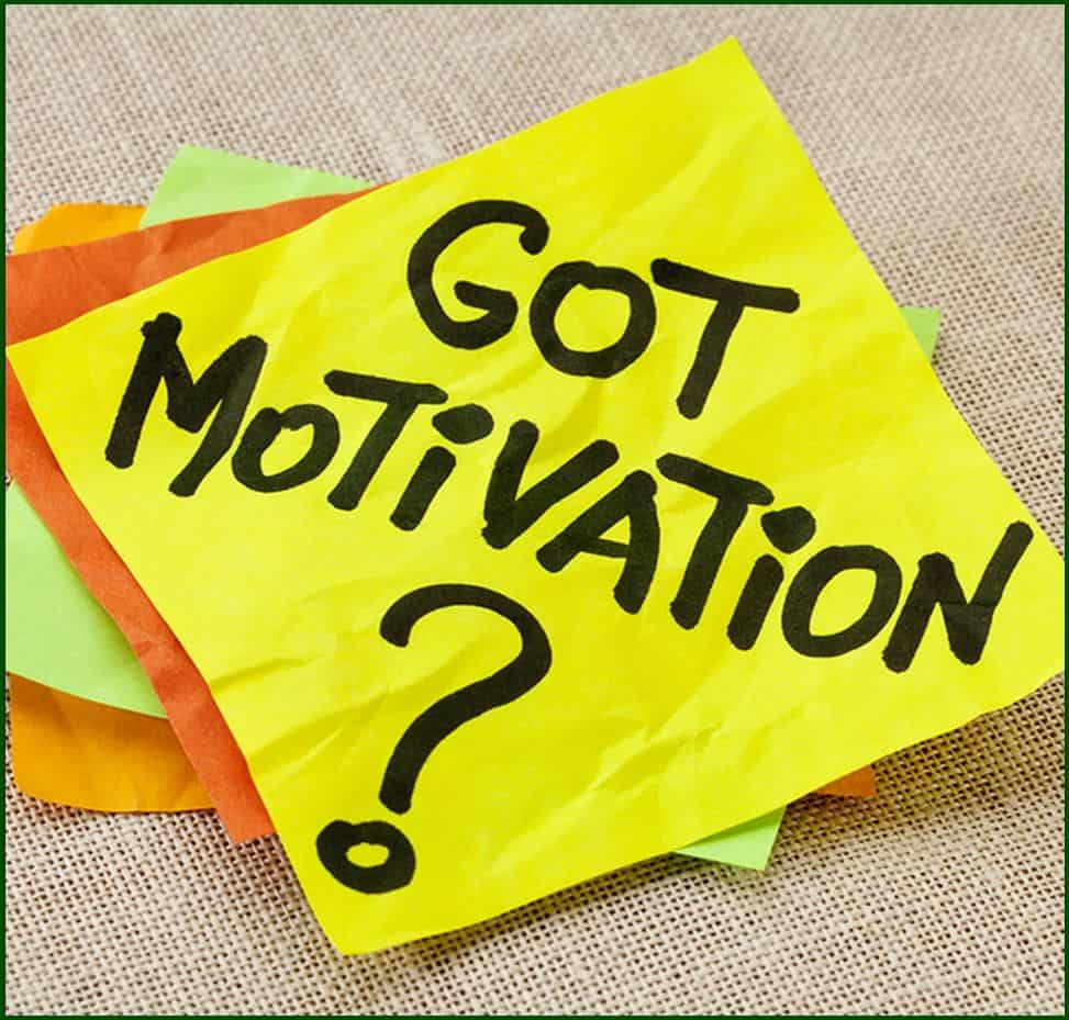 "Yellow sticky note with words ""Got Motivation?"""