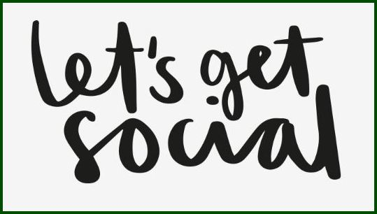 """Let's get social"" written in black on white background."